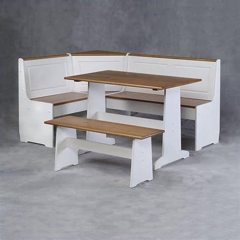 corner nook dining table linon chelsea breakfast corner nook dining table sets at