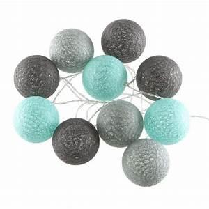 Boule Led Exterieur : guirlande lumineuse 10 boules led coloris bleu gris achat vente guirlande lumineuse 10 ~ Teatrodelosmanantiales.com Idées de Décoration