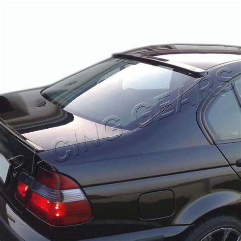 Unpaint Black Abs Plastic Rear Window Visor Spoiler Wing