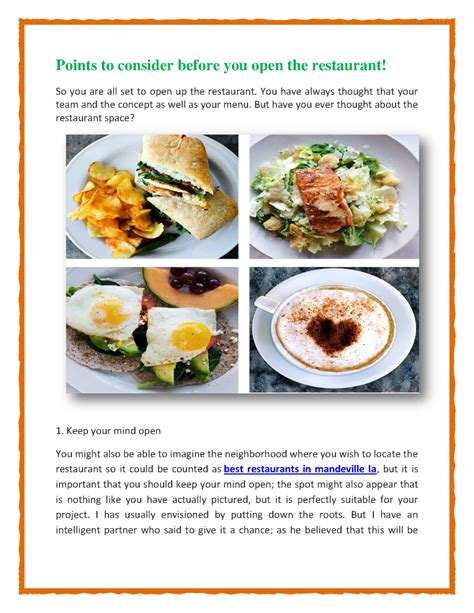 Explore our breakfast menus and find the perfect. Points to Consider Before You Open the Restaurant |authorSTREAM