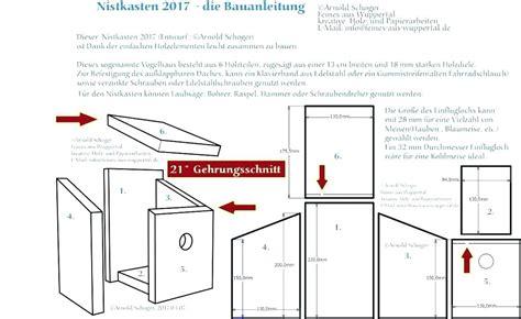 Vogelhaus Einfach Selber Bauen by Vogelhaus Selbst Bauen Selbstde Bauanleitung Kostenlos