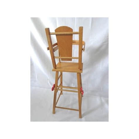chaise haute bois poupée chaise haute de poupée en bois jouets rétro jeux de