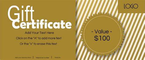 gift certificate template  logo