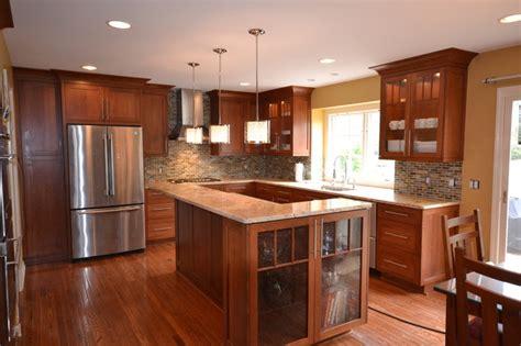 cherry shaker kitchen cabinets cherry shaker kitchen kitchen detroit by cole wagner 5380