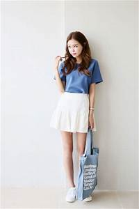 How to Wear Skirt in Korean Daily Fashion Style u00bb Celebrity Fashion Outfit Trends And Beauty Tips