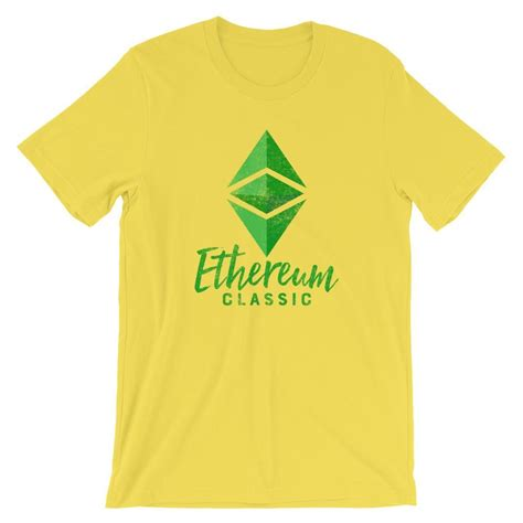Ethereum Classic Logo Distressed Vintage Design Tee ...