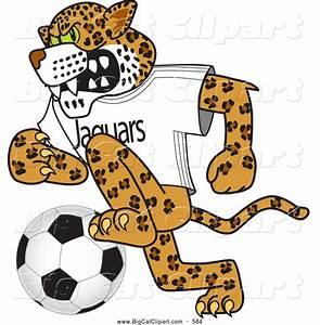 Big Cat Cartoon Vector Clipart of a Cute Jaguar Character ...