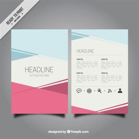 Template For Brochure Free by Abstract Brochure Template Vector Free