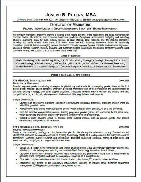 director of marketing marketing resume sales resume