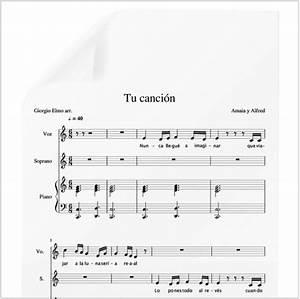 Tu canción Amaia y Alfred (Final OT) PDF Partitura piano y voces Arr by Giorgio Elmo