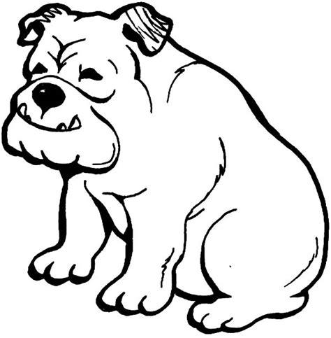 Amerikaanse Bulldog Kleurplaat by Uga Bulldogs Free Coloring Pages