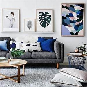 Living room inspiration how to style a grey sofa living for Curtains for living room with grey furniture