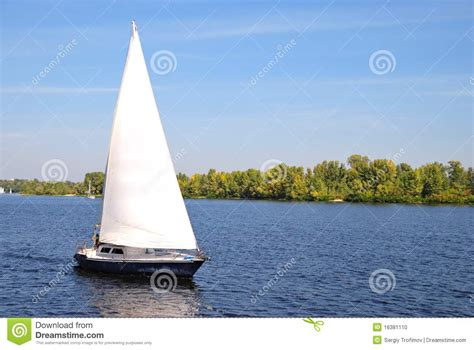 Sailboat On Water by Sailboat On Water Stock Photo Image 16381110