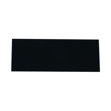 Blank Small Black Engraving Plate 1in x 2.5in