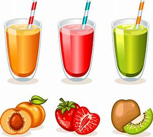 Fruit drinks food vector graphic set Free vector in Adobe ...