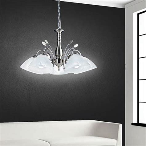 Bright Chandelier by Chandeliers Bright Satin Chrome Chandelier For Sale