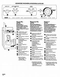 Kenmore 11022702100 User Manual Automatic Washer  Compact