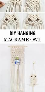 Makramee Eule Anleitung : diy hanging macrame owl makramee eule makramee ~ A.2002-acura-tl-radio.info Haus und Dekorationen