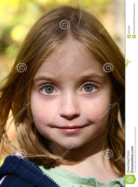 bright eyed girl royalty  stock images image