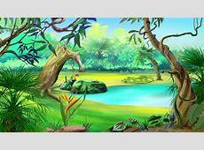 Scrolling Sky Scene For Fairy Tale Cartoon Scenery For