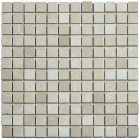 Marble Mosaic Tile by Botticino Beige Polished Marble Mosaic Tiles 1x1