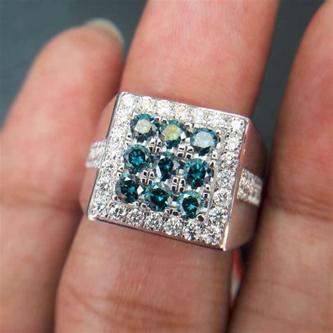 jual cincin pria berlian biru blue 0380 ring emas cincin dan batu batu permata di lapak