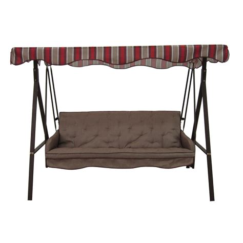 Patio Swings With Canopy Menards by Replacement Canopy For Lowes 3 Person Swing Brown Garden