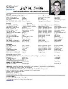 Musician Resume Template Jeff M Smith Resume