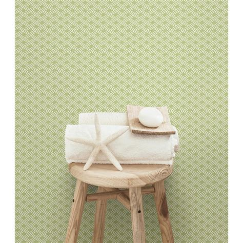 chesapeake sweetgrass green lattice wallpaper