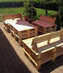 Fabriquer Un Canapé En Palette : 52 id es pour fabriquer votre meuble de jardin en palette ~ Voncanada.com Idées de Décoration