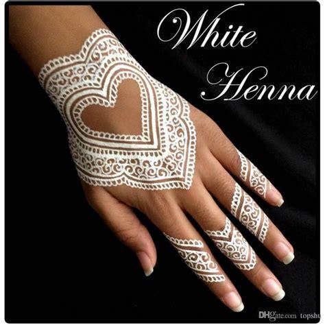 white henna cones temporary tattoo kit body art mehandi