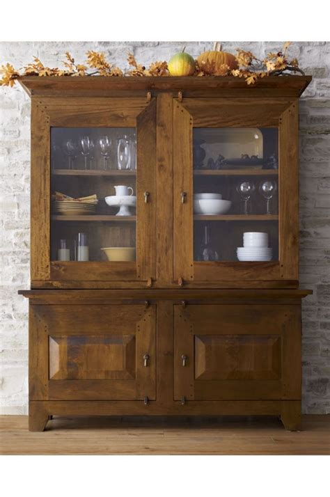 Buffets With Hutch - basque honey buffet with hutch top crate and barrel