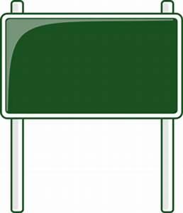 Green Road Sign Clip Art at Clker.com - vector clip art ...