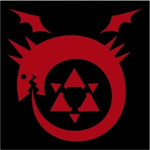 anime fullmetal alchemist ouroboros homunculus tattoo.jpeg