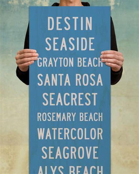 seaside wood beach sign  subway art transit design