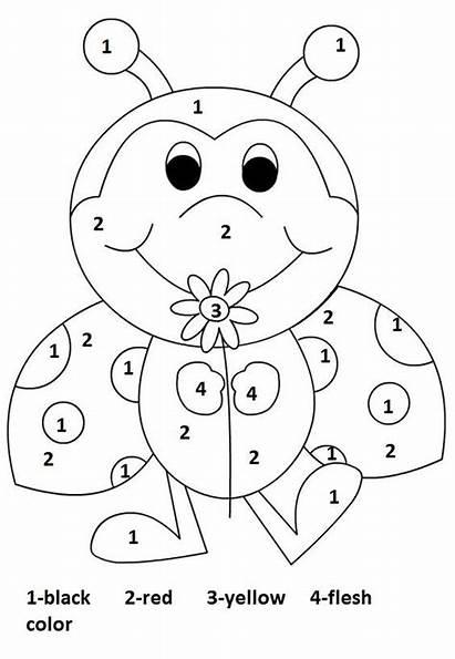 Number Coloring Preschool Worksheet Worksheets Pages Ladybug