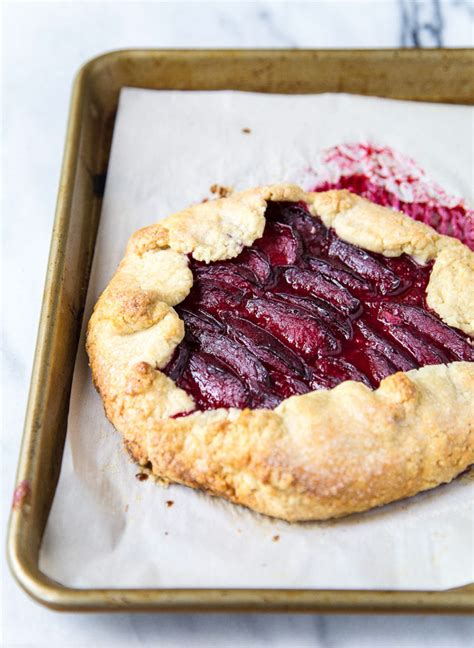 plum tart with almond filling for two dessert for two