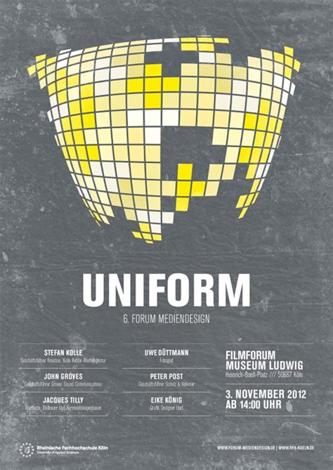 uniform poster design  leekdesign