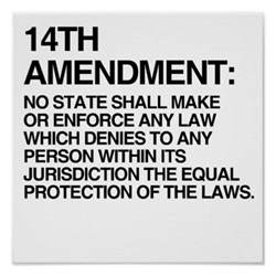 Image result for Fourteenth Amendment