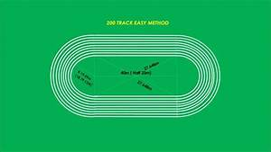 200m Track Easy Marking Plan In Athletics