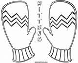 Mittens Coloring Colorings sketch template