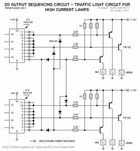 Traffic Light Schematic - Led And Light Circuit