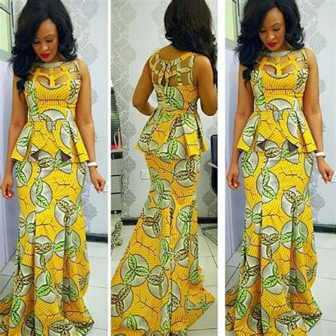 yellow mobel ankara styles for in nigeria