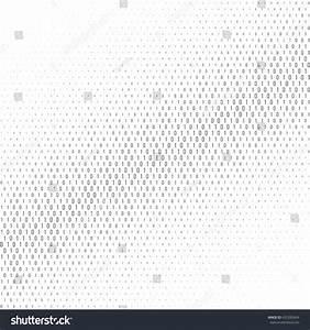 Binary Code Black White Background Two Stock Vector ...