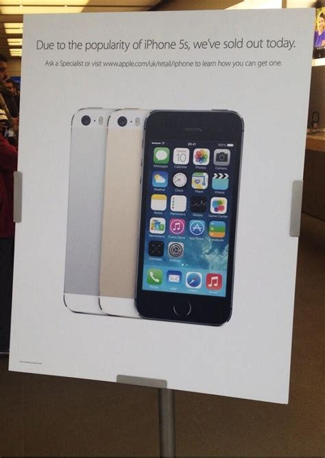 iphone shuts at 30 apple stores in uk sold out of iphone 5s stock expected