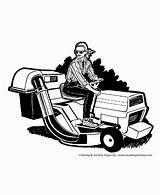 Coloring Mower Lawn Niceladiesnaughtybooks sketch template
