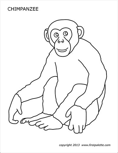 monkey  printable templates coloring pages