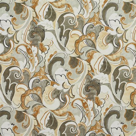 drapery material newport beige and brown abstract print drapery and