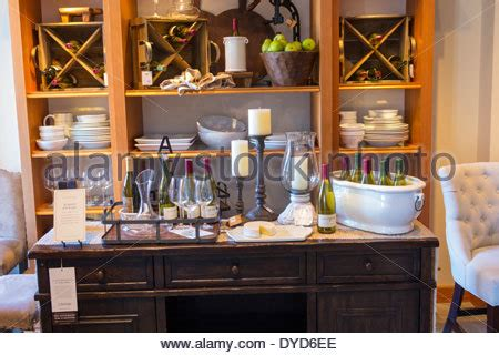 pottery barn store interior stock photo royalty