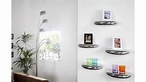 étagères Murales Design : etag re murale design de 40 x 20 cm en aluminium argent ~ Teatrodelosmanantiales.com Idées de Décoration